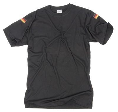 T-Shirt mit Nationalitätsabzeichen-Schwarz