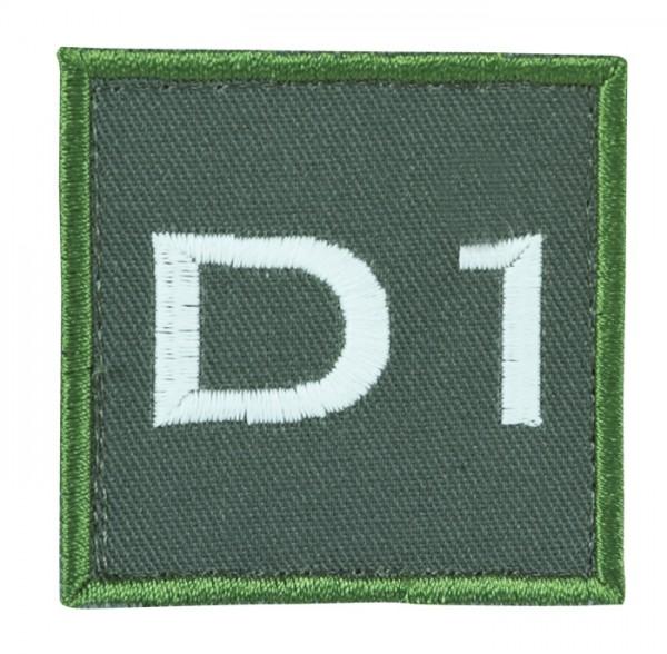Truppkennzeichnung Oliv mit Klett D1
