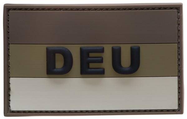 "3D Rubber Patch Deutschlandflagge ""DEU"" Desert Large"