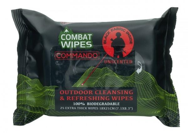 Combat Wipes Reinigungstücher Commando 25er Pack