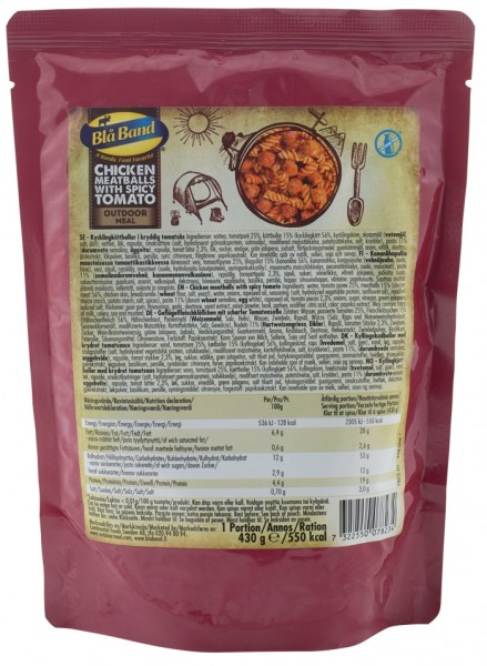 Bla Band Outdoor Meal Wet Pouch - Chicken Meatballs