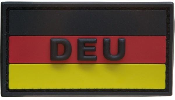 """3D Rubber Patch Deutschlandflagge """"DEU"""" SRG Small"""