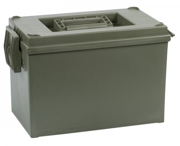 US Ammo Box Kunststoff 20mm Oliv Neu