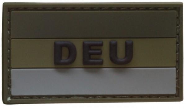 "3D Rubber Patch Deutschlandflagge ""DEU"" Oliv Small"