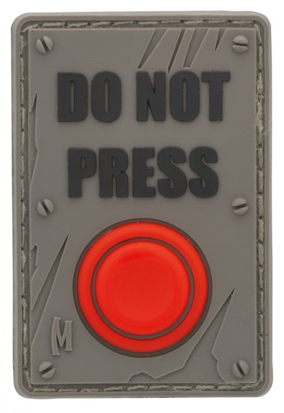 Maxpedition Rubber Patch DO NOT PRESS Swat