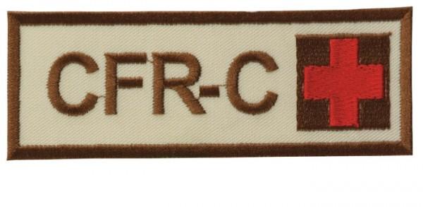 Schriftzug CFR-C mit Kreuz Sand/Braun/Rot Klett