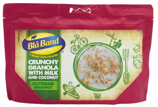 Blå Band Outdoor Breakfast - Knuspriges Müsli mit Milch und Kokosnuss