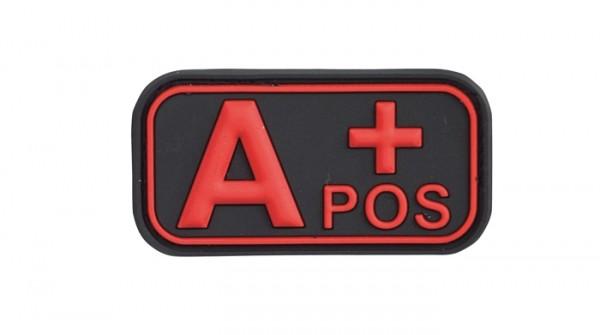 3D Blutgruppenpatch Schwarz/Rot A pos +