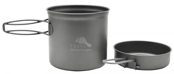 Toaks Titanium Pot 1100 ml mit Pfanne