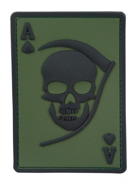 3D Rubber Patch Death Ace Oliv/Schwarz