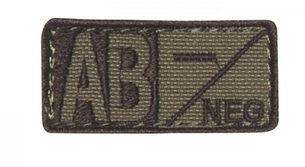 Blutgruppenpatch Coyote/Braun AB neg - 229AB-003