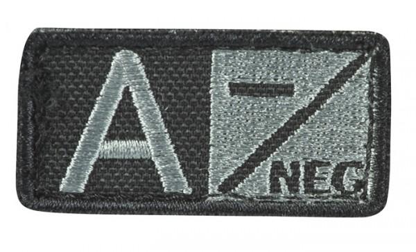 Blutgruppenpatch Grau/Schwarz A neg - 229A-N-007