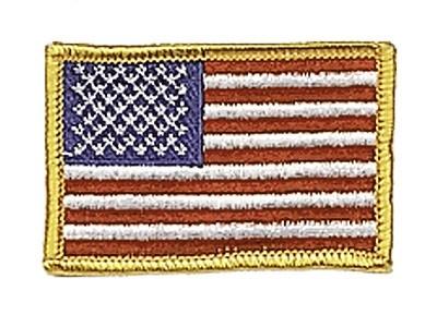 US Nationalitätsabz. Bunt Textil