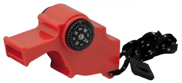 Signalpfeife Safety 4in1 Orange