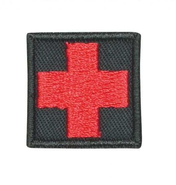 Medic Kreuz Schwarz/Rot Klein mit Klett
