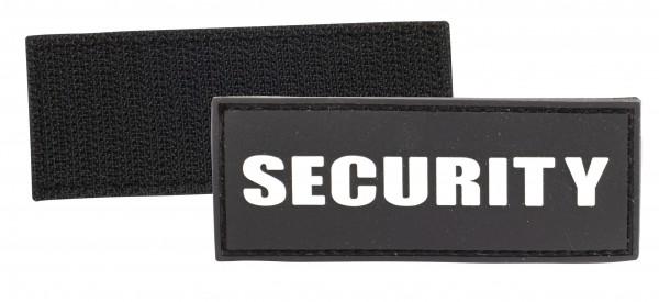 3D Rubber Patch mit Klett Security Schwarz/Weiss