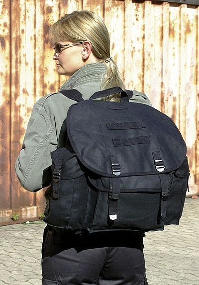 BW Rucksack Schwarz Import