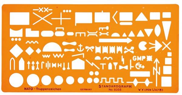 Standardgraph NATO Truppenzeichenschablone