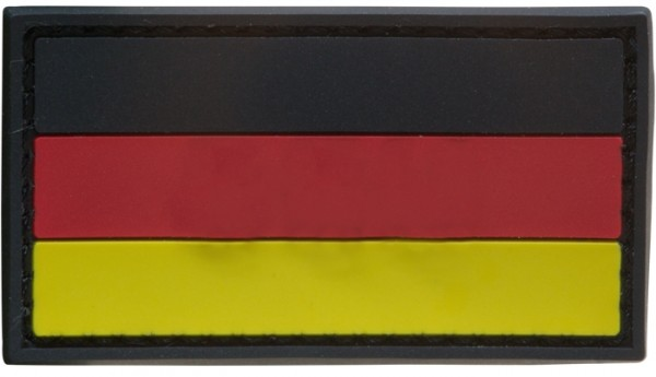 3D Rubber Patch Deutschlandflagge SRG Small