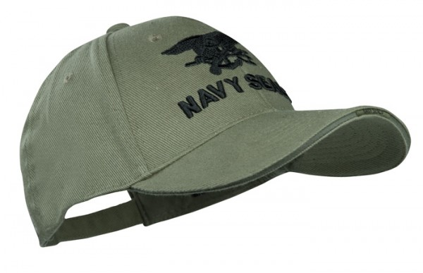 Baseball Cap Oliv Navy Seals Trident