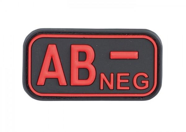 3D Blutgruppenpatch Schwarz/Rot AB neg -