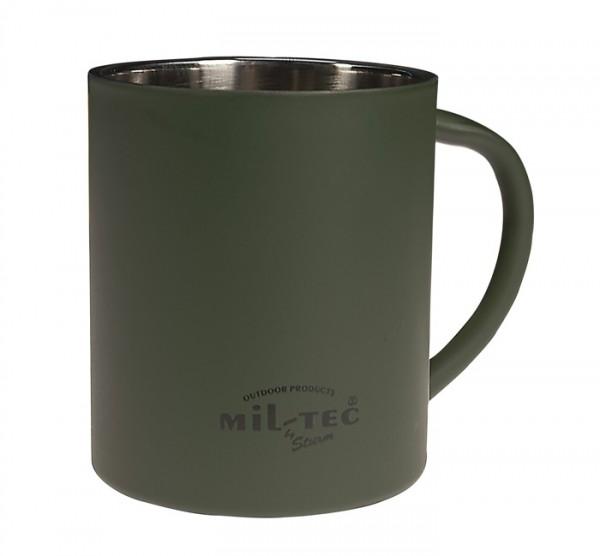 Mil-Tec Edelstahl Isolierbecher Oliv 450 ml
