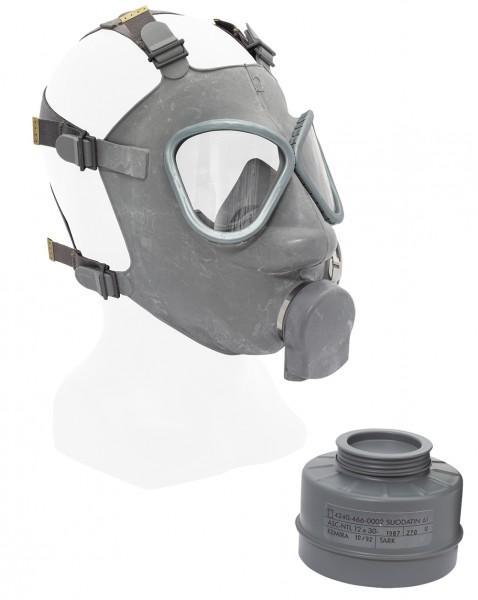 Finnische Schutzmaske M61 mit Filter Neuwertig