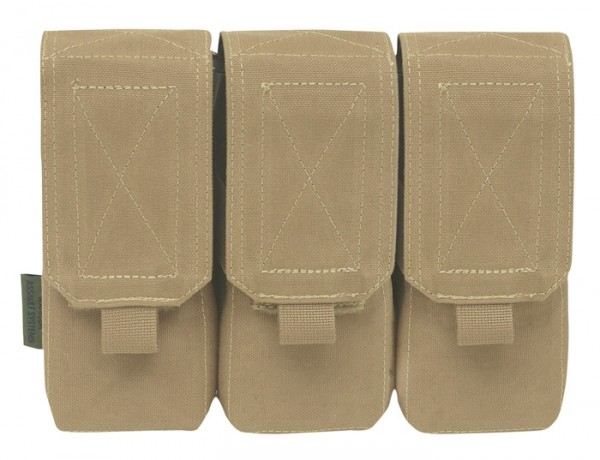 Warrior Triple M4 Mag Pouch Coyote
