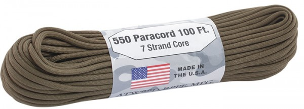 Atwood Rope 550 Paracord 4 mm - 30 m