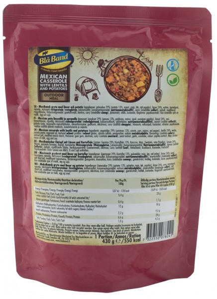 Bla Band Outdoor Meal Wet Pouch - Mexican Casserole