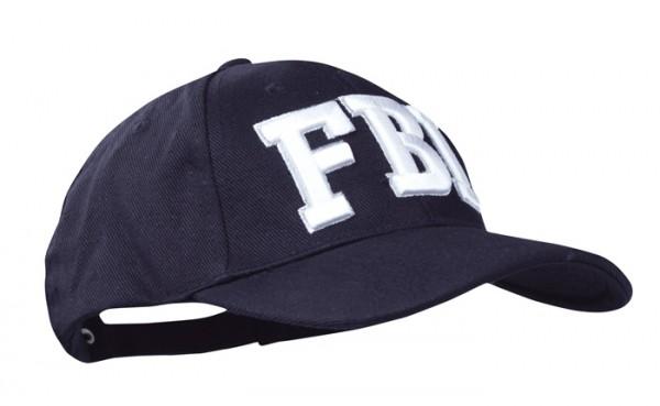 Baseball Cap Schwarz 3-D FBI