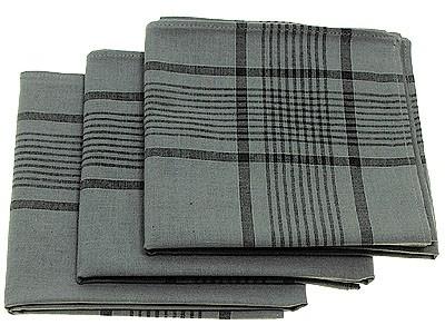 BW Taschentuch Grau Neu 3 Stück